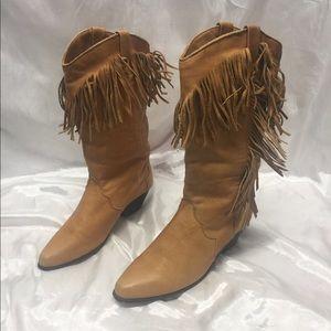 Dingo Fringe Cowgirl Boots